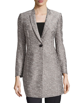 Marlee Textured One-Button Jacket