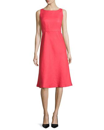 Dora Linen Sleeveless Dress
