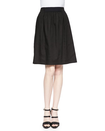 Janice Pleated-Front Skirt
