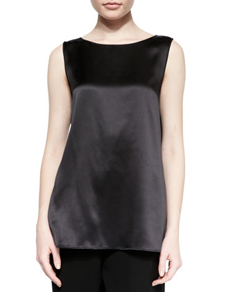 Rosie Sleeveless Satin Blouse