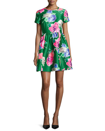 stelli floral-print short-sleeve dress