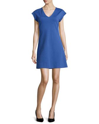 ponte a-line dress