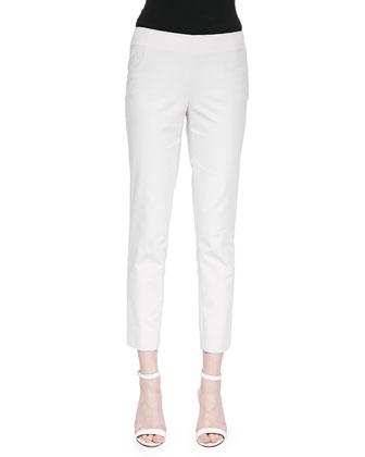 Stanton Straight-Leg Ankle Pants, Vapor