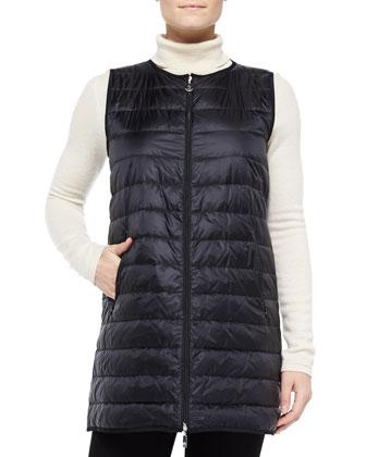 Merc Long Puffer Vest