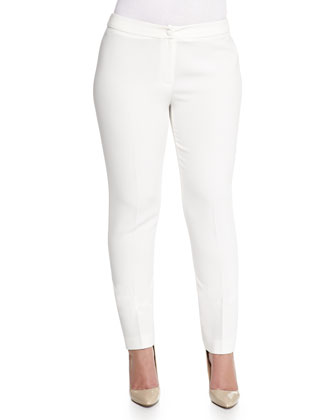 Ripresa Slim Pants, White, Women's