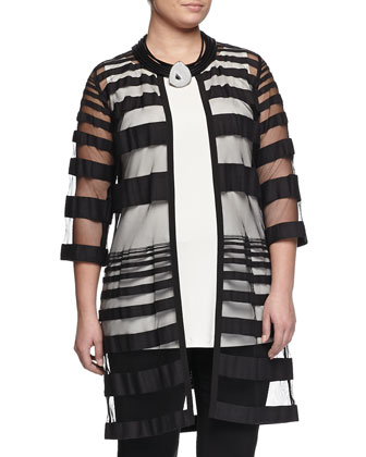 Tarocchi Sheer-Stripe Jacket, Women's