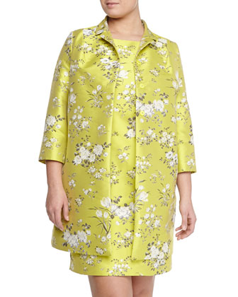 Nettuno Floral Long Topper Coat, Women's