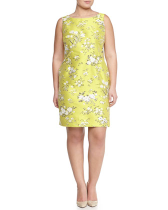 Effigie Floral Jacquard Sheath Dress, Women's