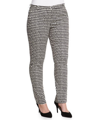 Rigoli Geometric-Print Slim Pants, Women's