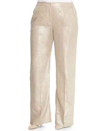 Regia Shimmer Straight-Leg Pants, Women's