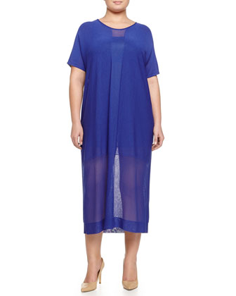 Galena Crepe Long Dress, Women's