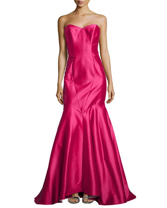Strapless Mermaid Gown, Strawberry