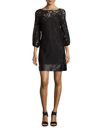 Bateau Neck Lace Cocktail Dress