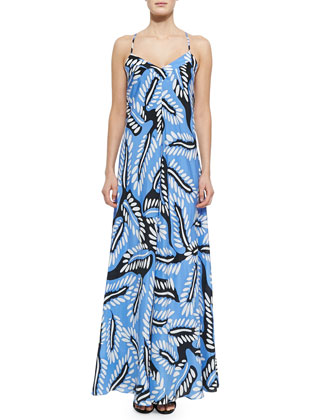 Riviera Bud-Print Maxi Dress