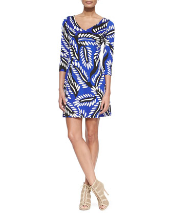Riviera Three-Quarter-Sleeve Dress