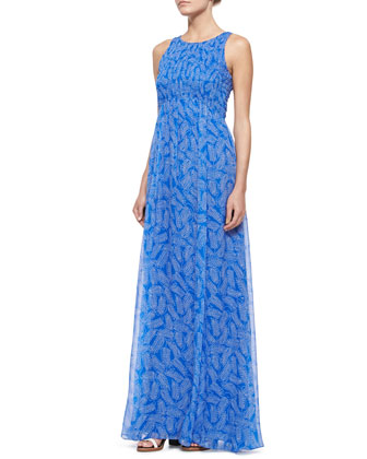 Riviera Sleeveless Smocked Maxi Dress