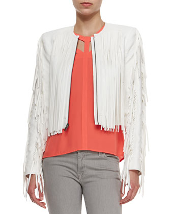 Farrell Short Jacket with Fringe