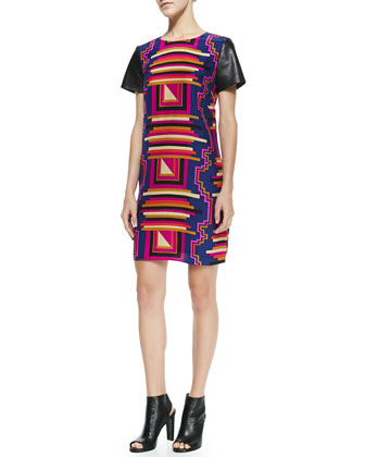 Mason Printed Shift Dress, Midnight