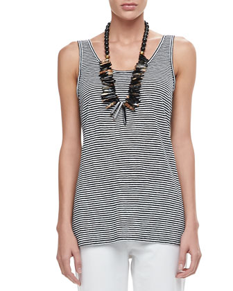 Linen Jersey Striped Tank, Women's