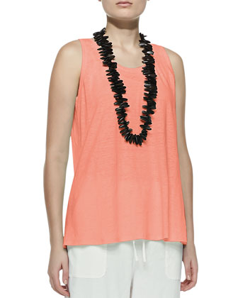 Linen Jersey Scoop-Neck Tank, Women's