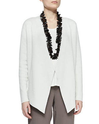 Silk-Cotton Interlock Jacket, Jersey Tank & Silk Georgette Crepe Pants