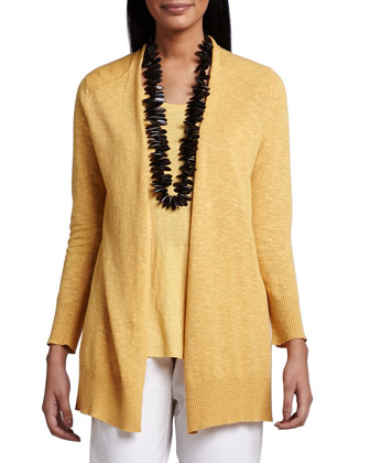 Open Slub Cardigan, Women's