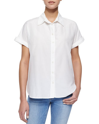 Le Classic Short-Sleeve Blouse