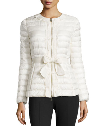Latouche Bow-Belt Puffer Jacket