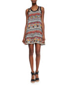 Jolie Tribal-Print Tank Dress
