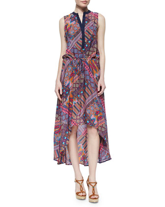 Lydia Printed High-Low Dress