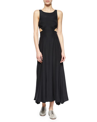 Side-Cutout Maxi Dress