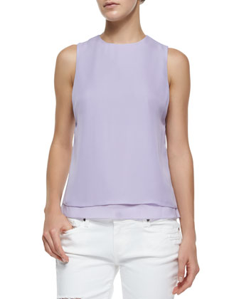Eli Draped Silk Top