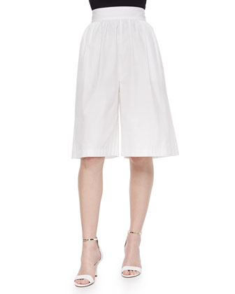 Pleated Poplin Gaucho Pants