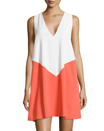 Maya Colorblock Trapeze Dress