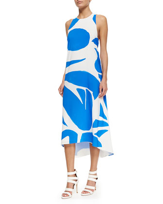Dee Printed High-Low Dress