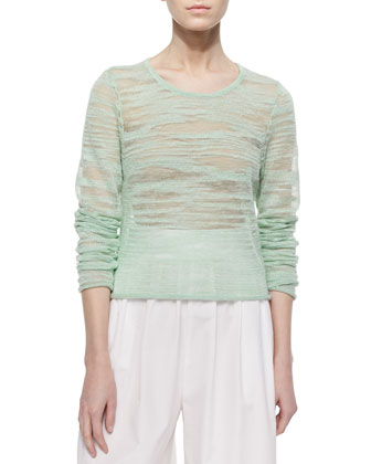 Fallon Sheer Knit Sweater