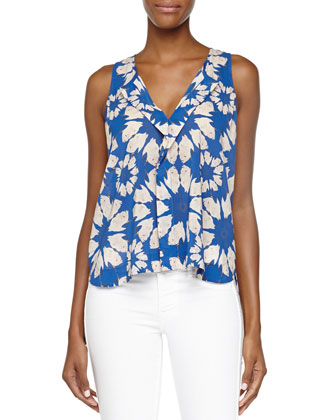 Hope Floral-Print Georgette Top