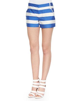 Wide-Stripe Signature Cady Shorts