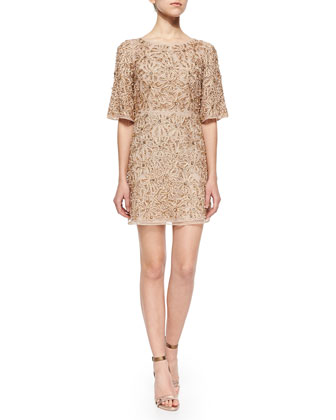 Drina Embellished Mesh Dress