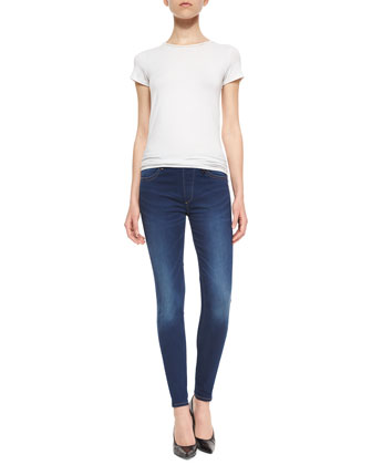 Runway Injection Low-Rise Denim Leggings