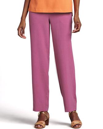 Silk Ankle Pants, Petite