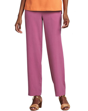Silk Ankle Pants, Women's