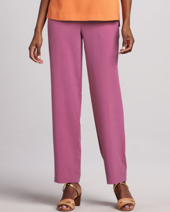Easy-Fit Colorblock Silk Shirt, Silk Tank & Silk Ankle Pants