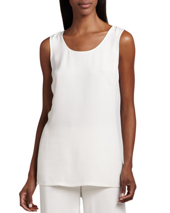 Longer Silk Tank, Women's