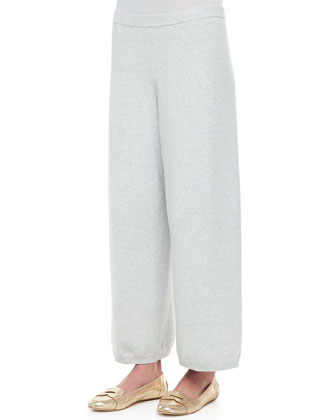 Wide-Leg Knit Pants