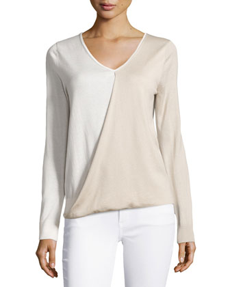 Long-Sleeve Crossover Top