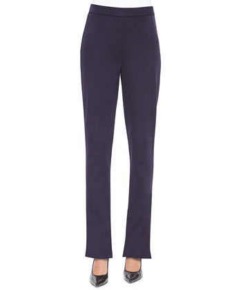 Casey Boot-Cut Pants, Navy