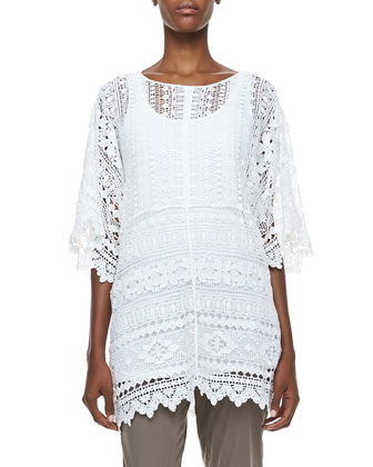 Morocco Crochet Easy Tunic, Women's
