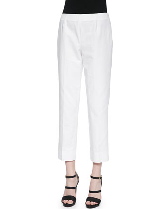Bleecker Cropped Ankle Pants, White