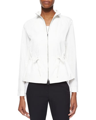 Julian Chic Outerwear Two-Way-Zip Jacket, Scoop-Neck Tank & Bi-Stretch ...